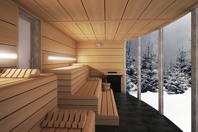 sauna diseño paris interiores