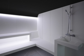 Baño de vapor en solid surface